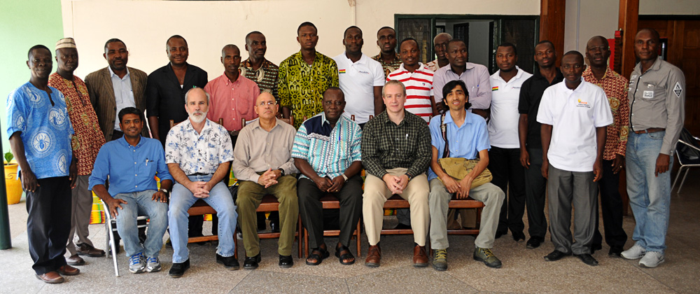 Participants at the Ghana meeting, October 2013